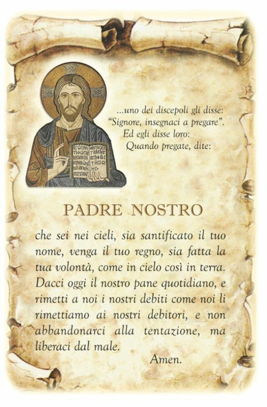 Preghiere del mattino Padre Nostro