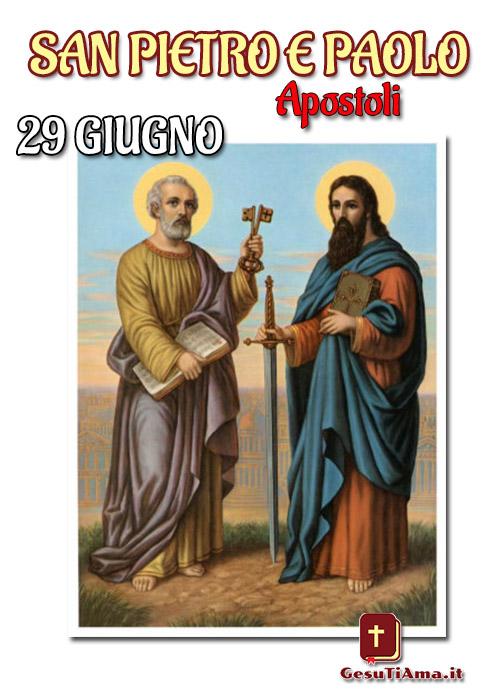 San Pietro e Paolo 29 Giugno immagini bellissime religiose