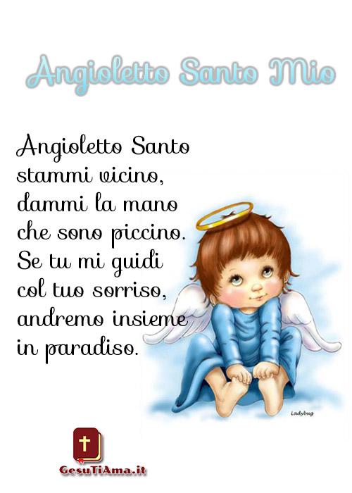 Angioletto Santo Mio le più belle preghiere per i bimbi