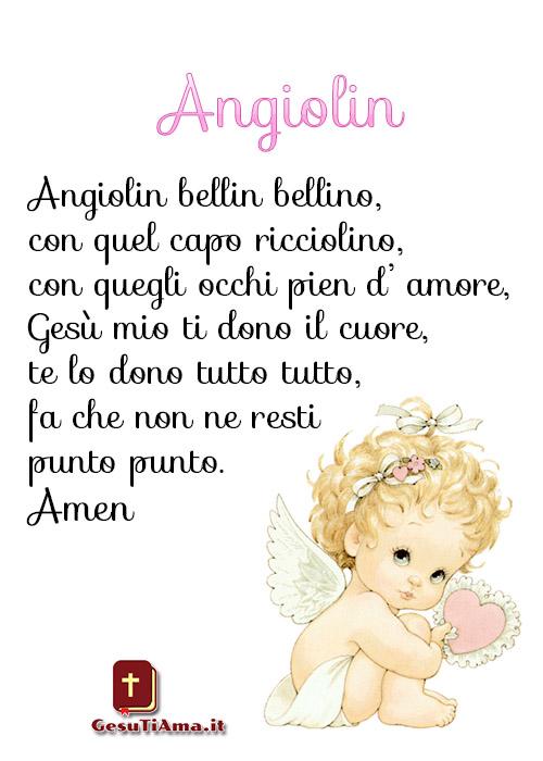 Angiolin preghiere bellissime e semplici per i bambini
