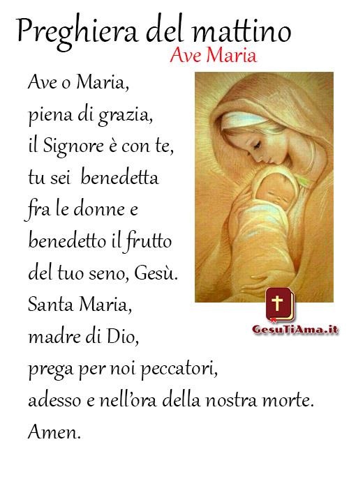Ave Maria Preghiera del mattino