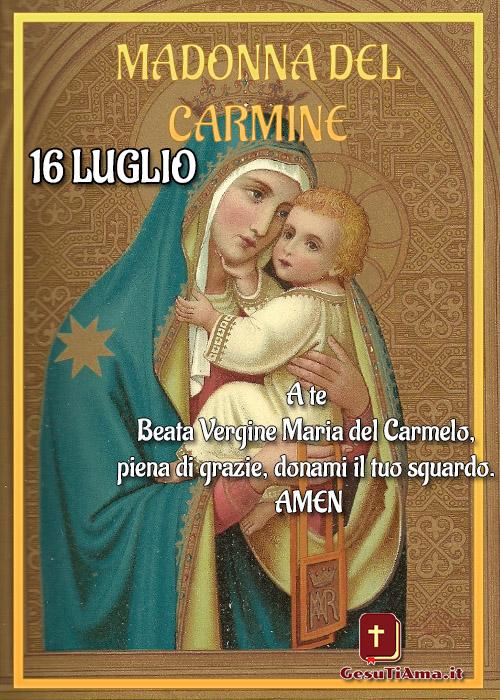 Madonna del Carmine con frase belle immagini religiose