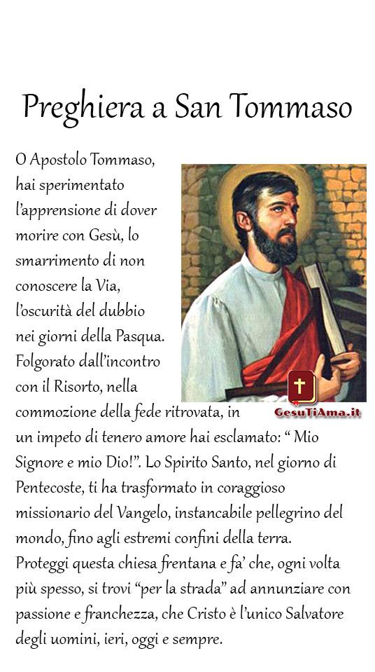 Preghiera a San Tommaso link religiosi immagini nuove