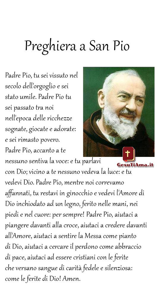 Preghiera bellissima a San Pio immagini religiose da condividere