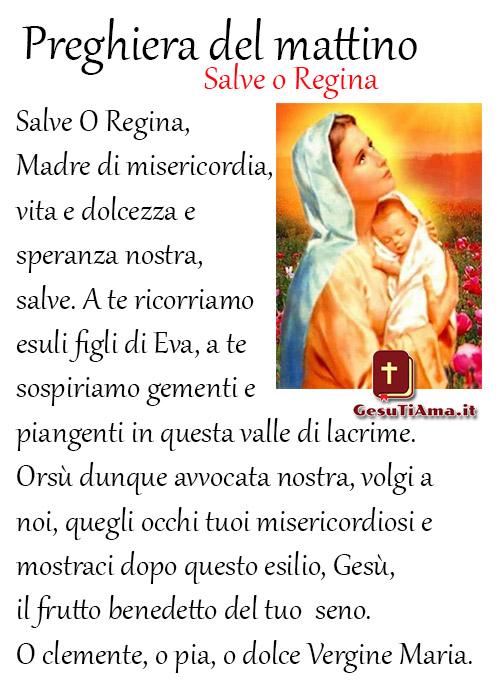 Preghiera del Mattino Salve o Regina immagini religiose belle