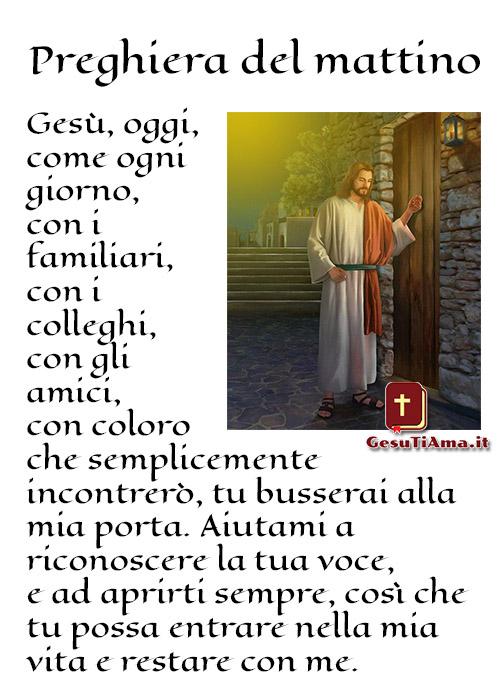 Preghiera del mattino a Gesù immagini