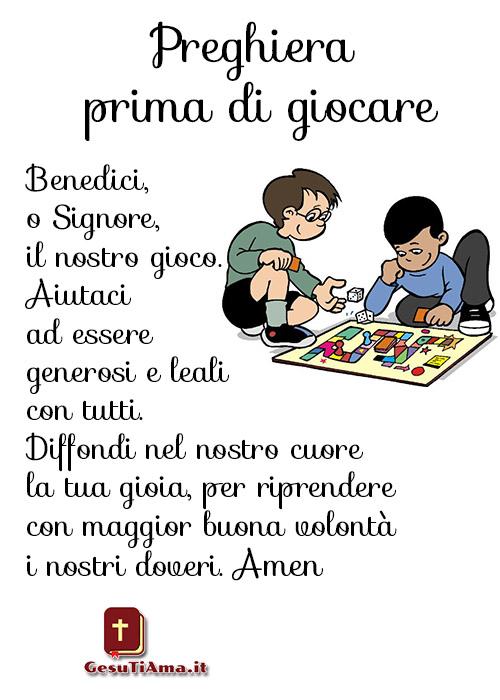 Preghiera prima di giocare bellissime preghiere nuove