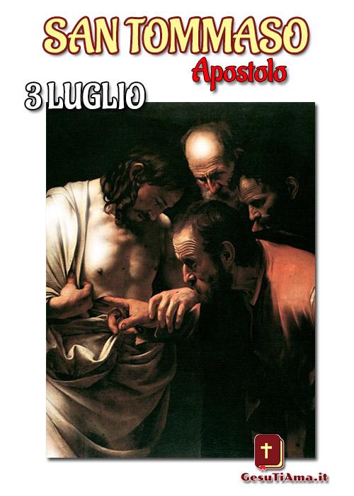 San Tommaso Apostolo 3 Luglio immagini religiose con biografia