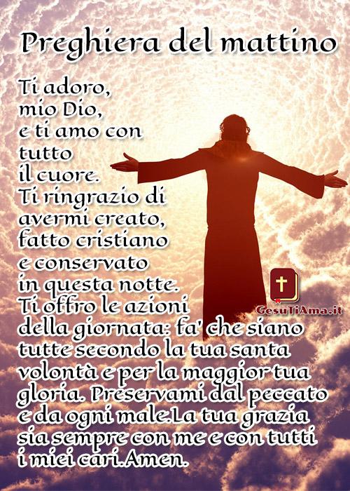 Ti Adoro Preghiera del mattino