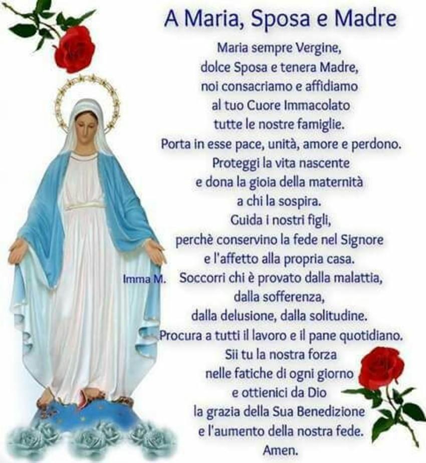 A Maria Sposa e Madre Preghiere per la famiglia
