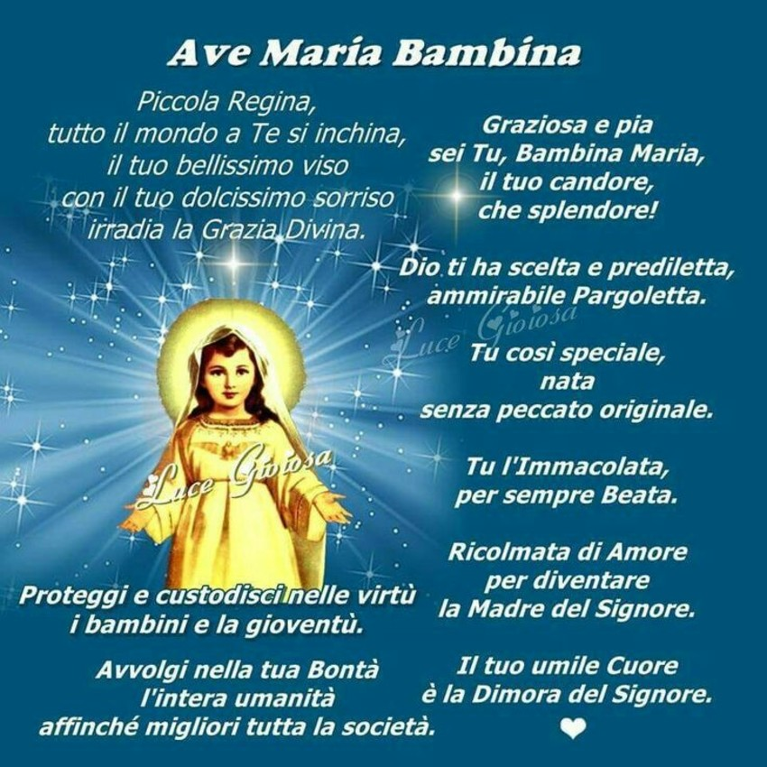Ave Maria Bambina le Preghiere più belle