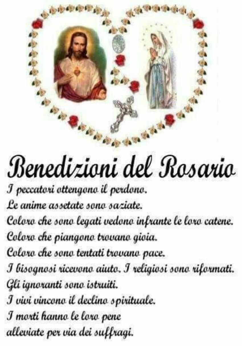 Benedizioni del Rosario immagini preghiere