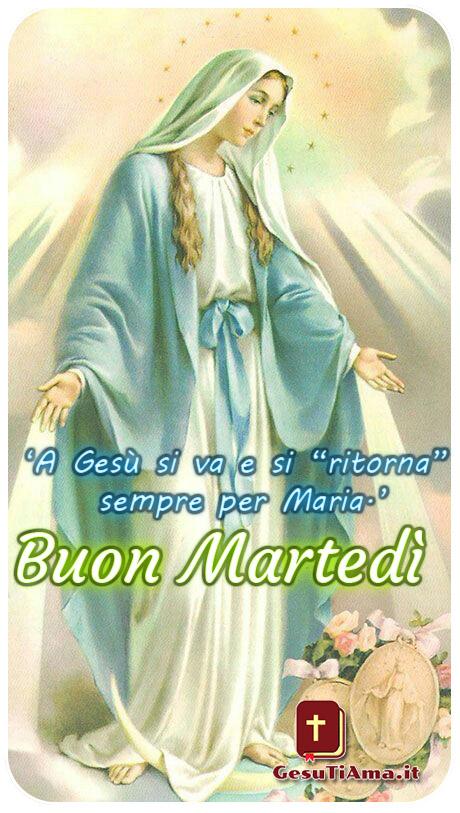 Buon Martedì con la Madonna immagini religiose nuove