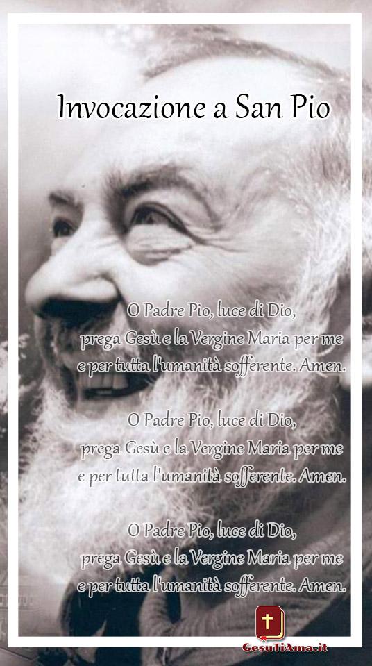 Invocazione a San Pio immagini religiose Facebook WhatsApp