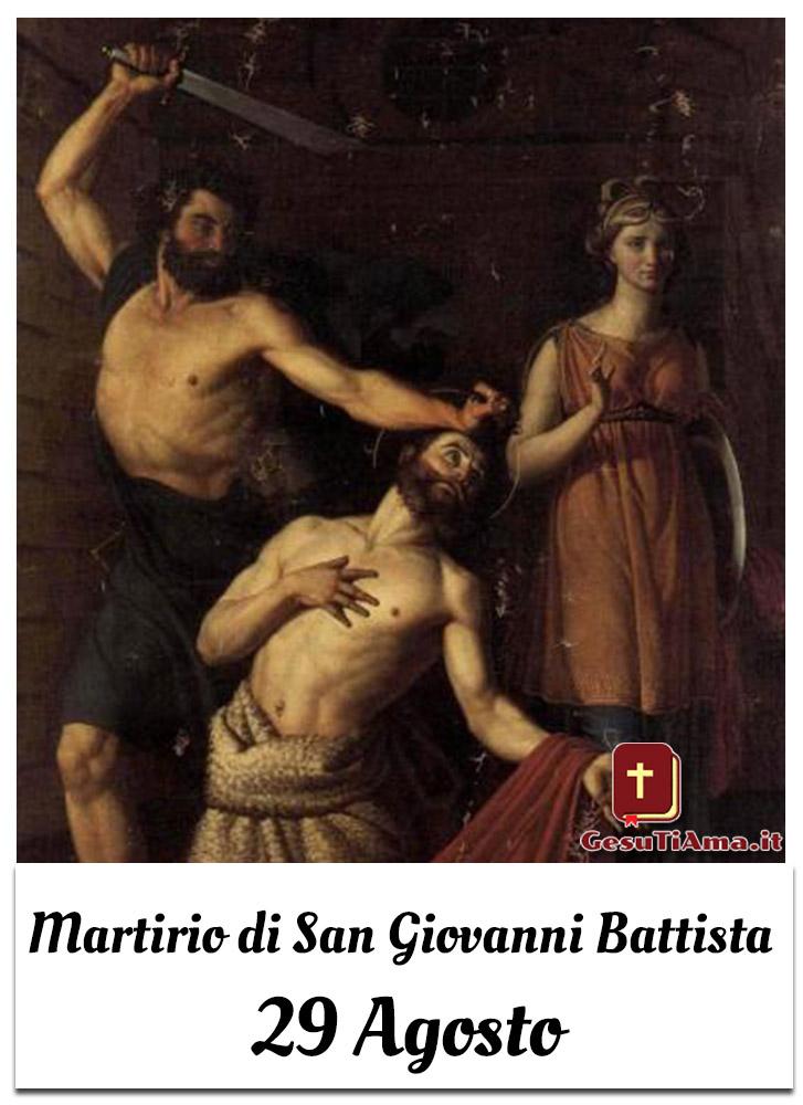 Martirio di San Giovanni Battista 29 Agosto immagini cattoliche