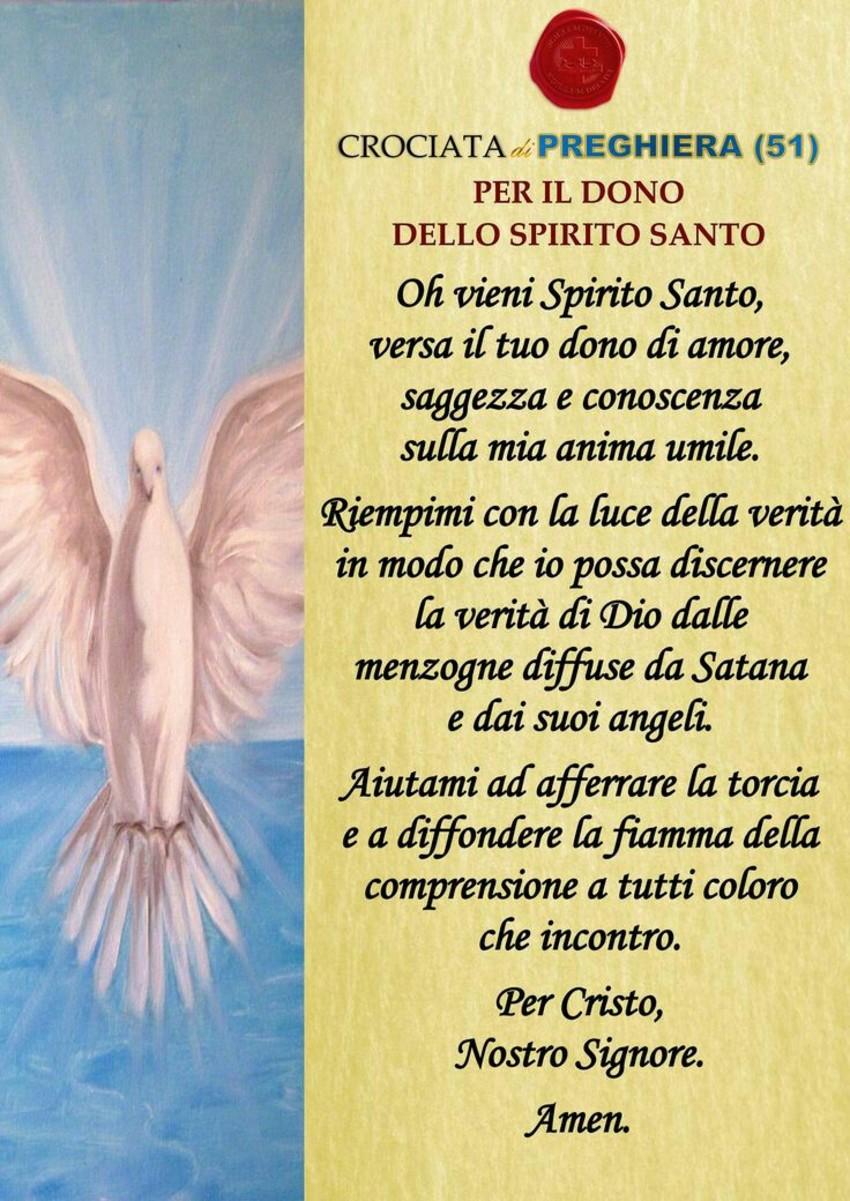 Per il dono dello Spirito Santo belle preghiere