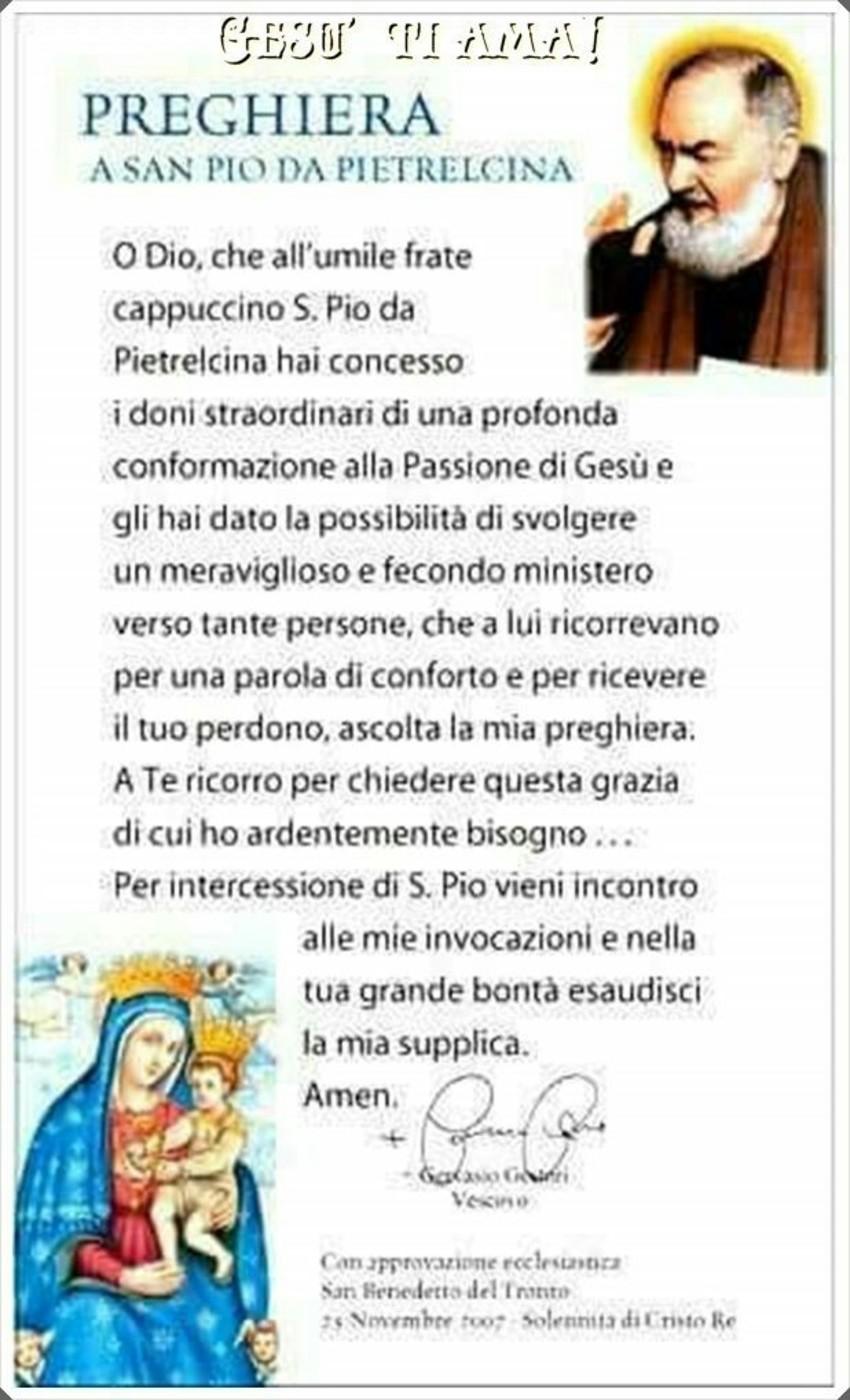 Preghiera a San Pio da Pietralcina