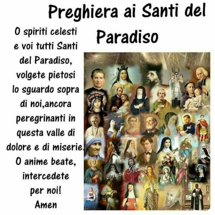 Preghiera ai Santi del Paradiso