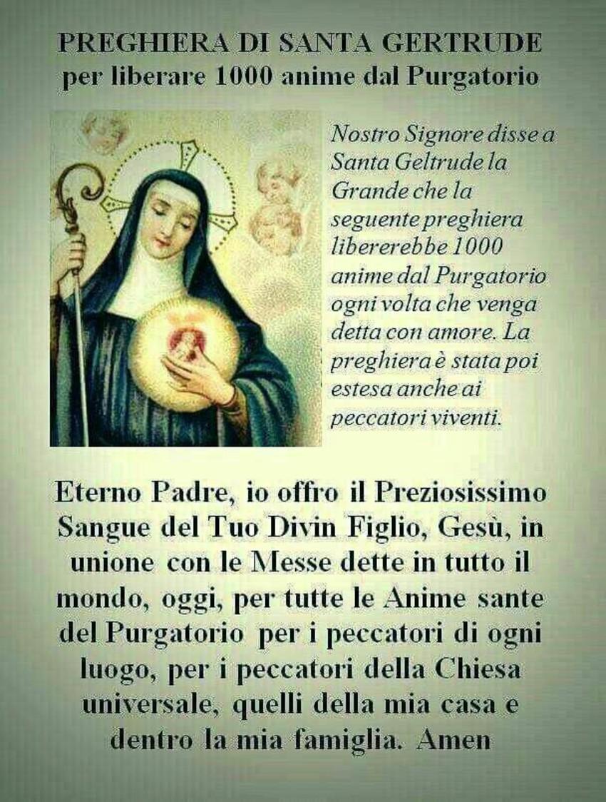 Preghiera di Santa Gertrude