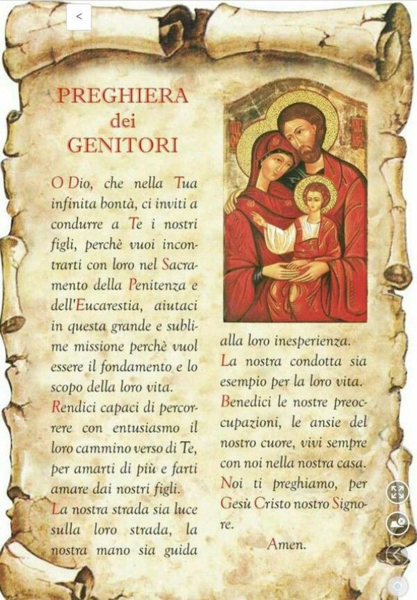 Preghiera per i figli