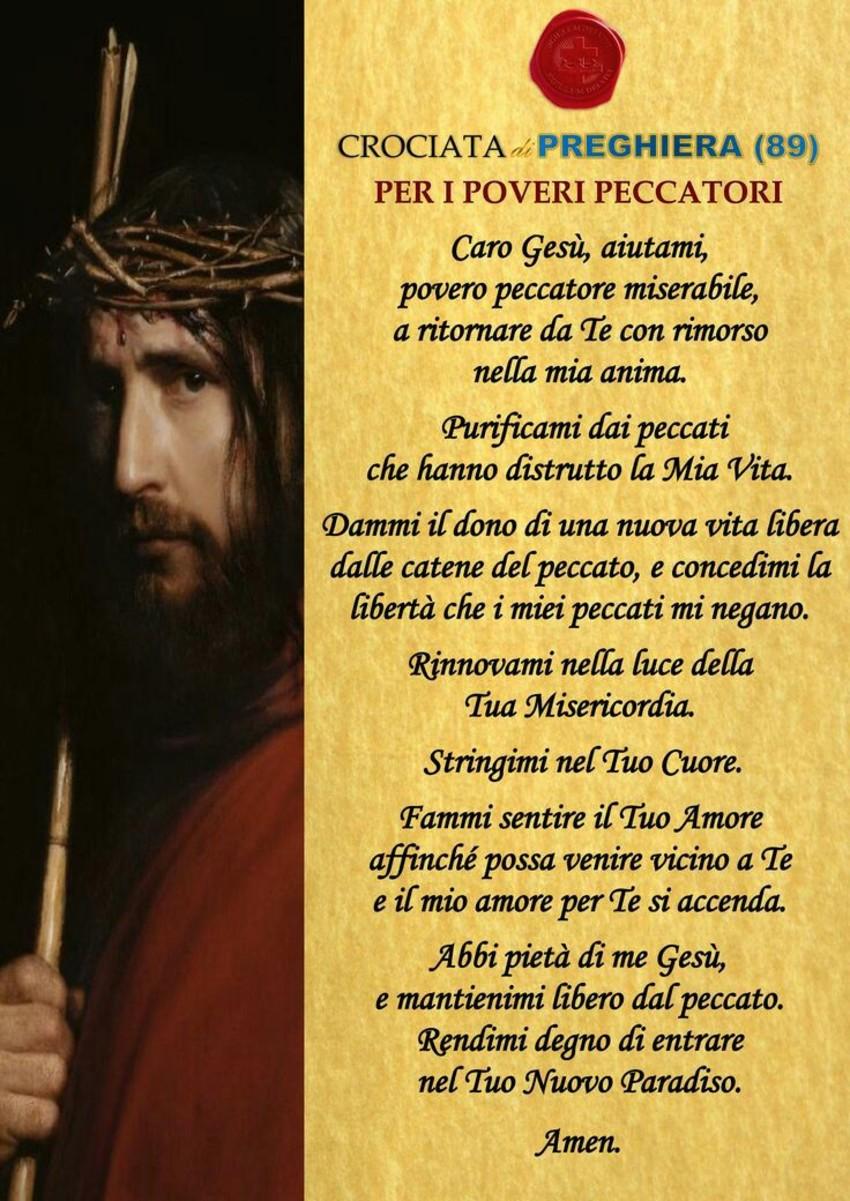 Preghiera per i poveri peccatori