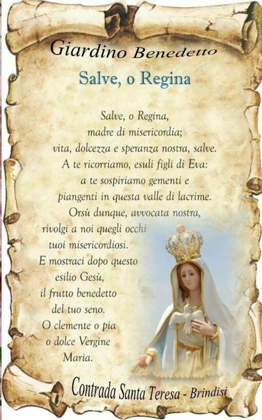 Salve o Regina Preghiere a immagine da mandare