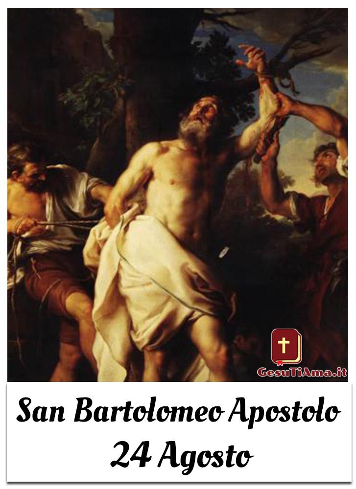 San Bartolomeo Apostolo 24 Agosto immagini religiose