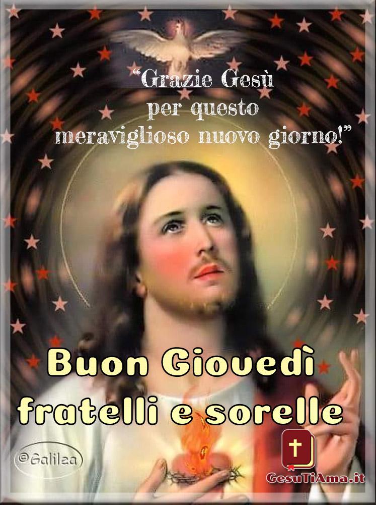 Buon Giovedì con Gesù immagini religiose nuove