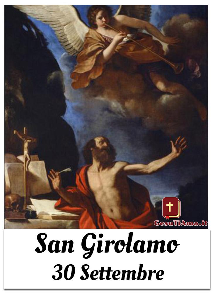 Oggi 30 Settembre si festeggia San Girolamo