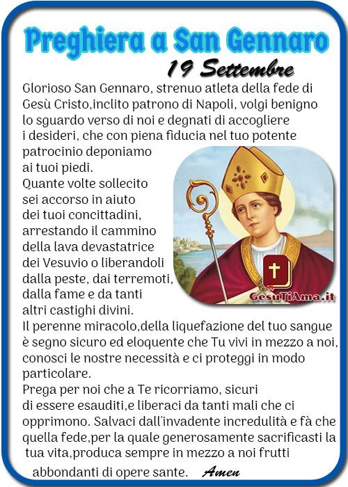 Preghiera a San Gennaro 19 Settembre