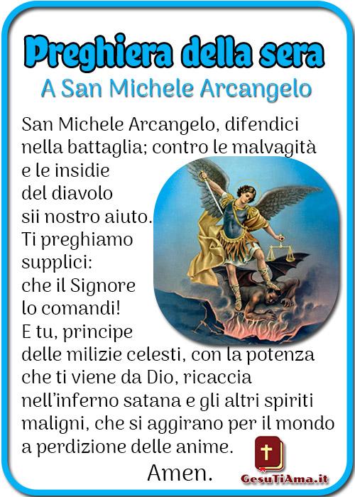 Preghiera della sera a San Michele Arcangelo