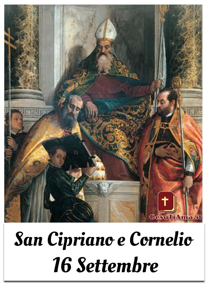 San Cipriano e Cornelio 16 Settembre immagini religiose nuove