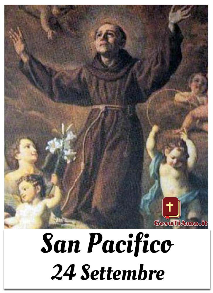 San Pacifico 24 Settembre che Santo è oggi