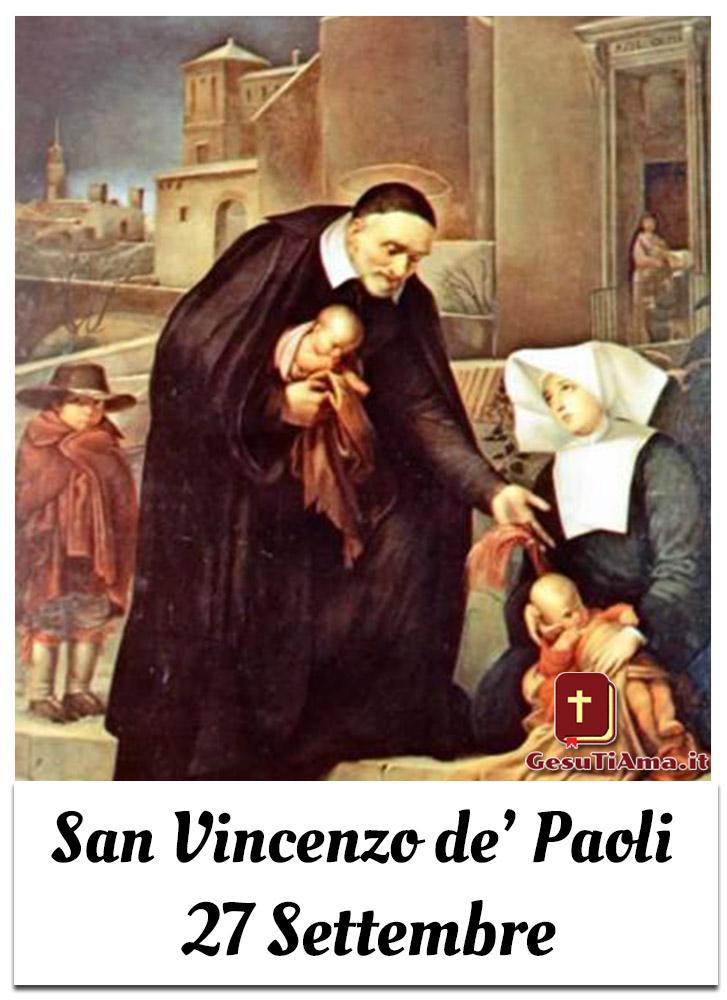 San Vincenzo de Paoli 27 Settembre immagini per WhatsApp