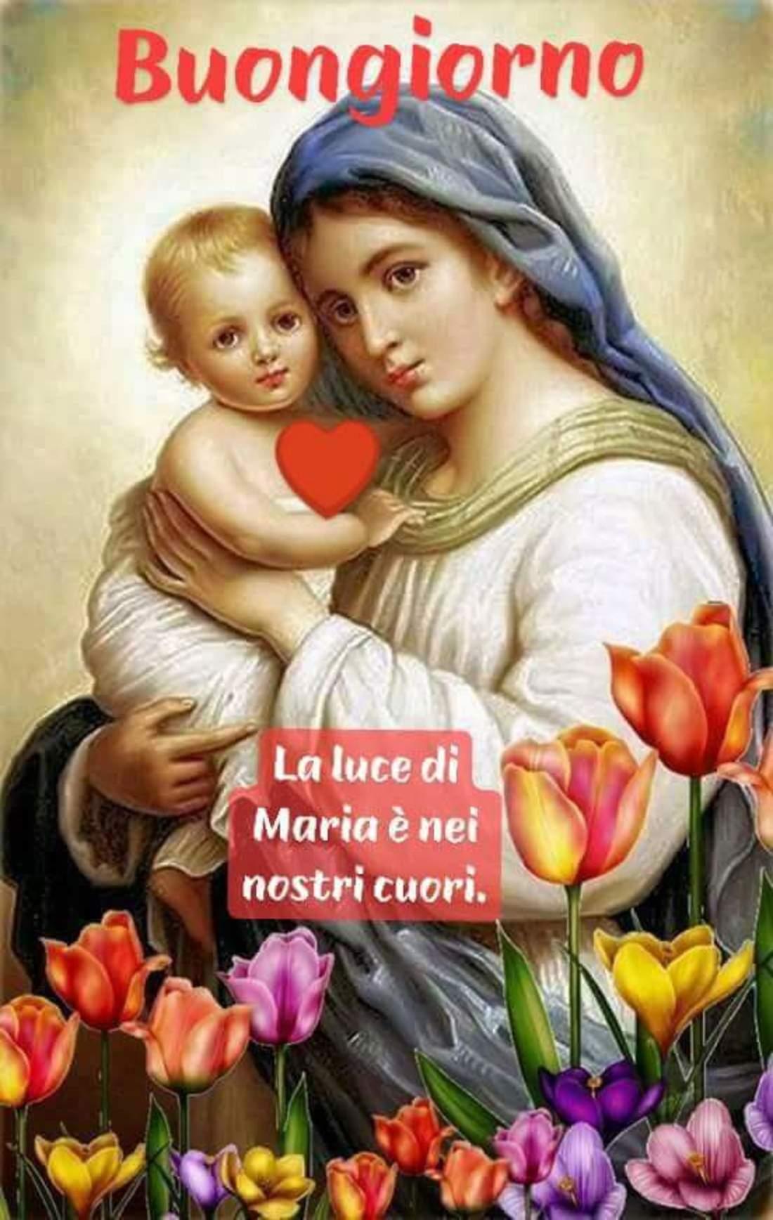 Buongiorno immagini religiose con Maria 3
