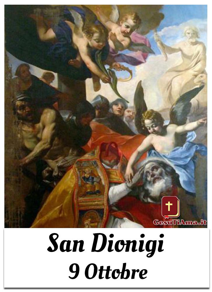 Oggi 9 Ottobre si festeggia San Dionigi