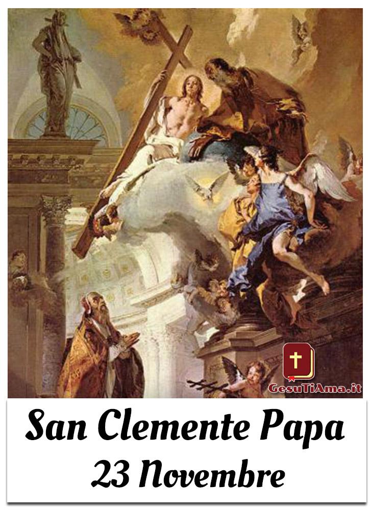 San Clemente Papa 23 Novembre ricorrenze religiose immagini