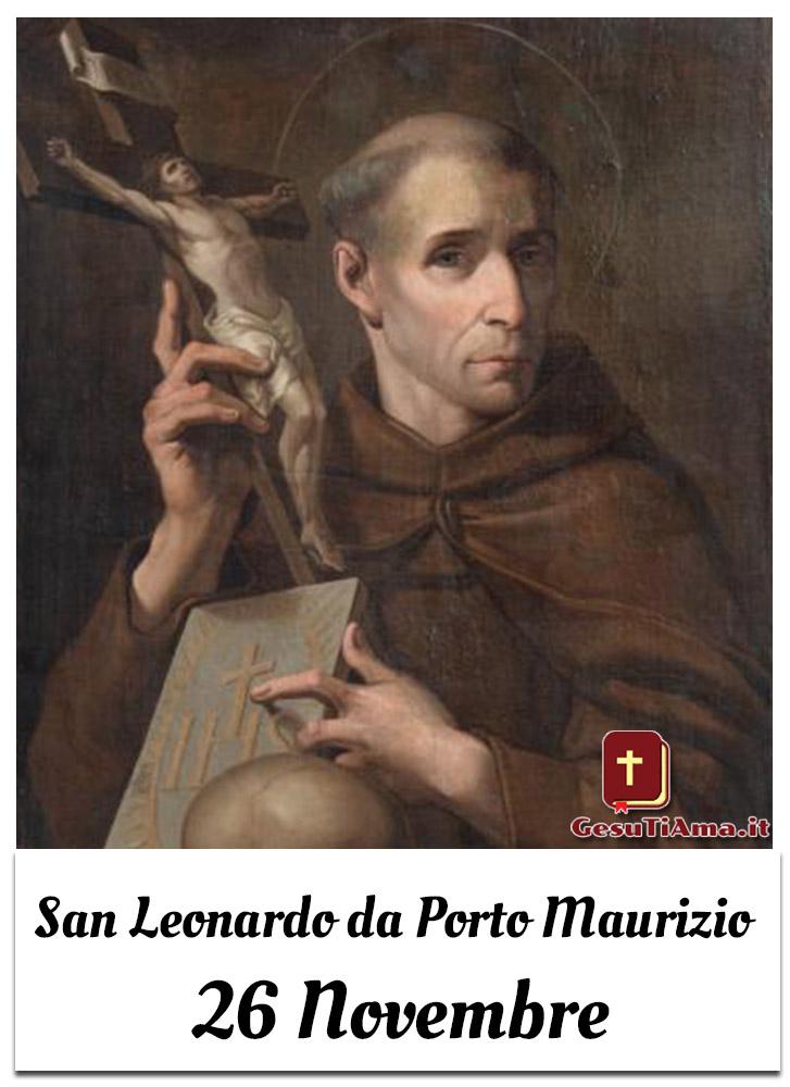 San Leonardo da Porto Maurizio 26 Novembre immagini per credenti