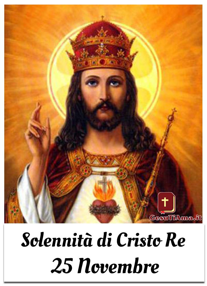 Solennità di Cristo Re 25 Novembre immagini per Cristiani Cattolici