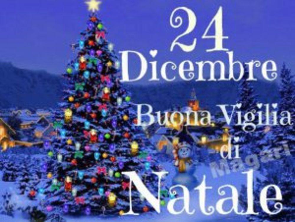 Auguri Vigilia di Natale con albero di Natale