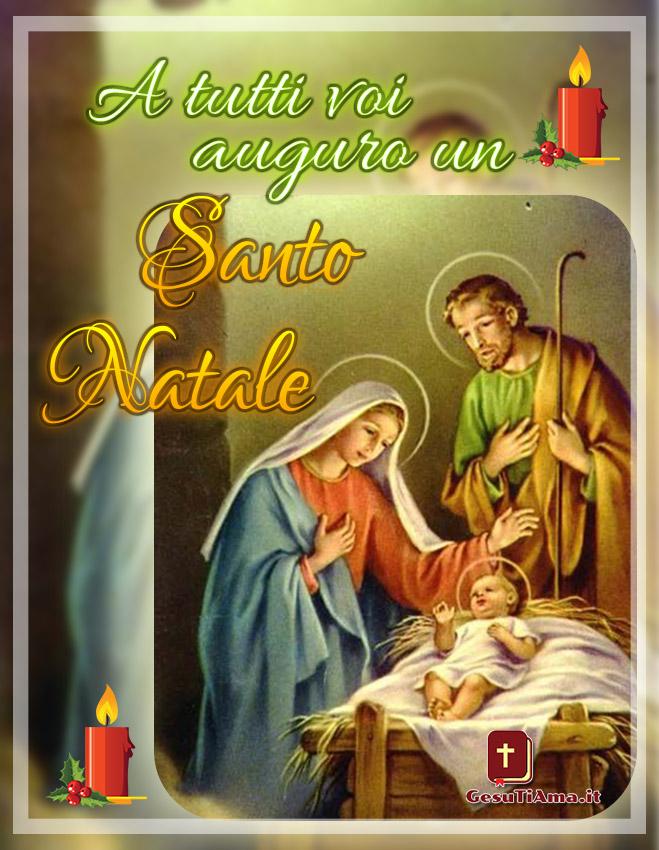 Buon Natale immagini religiose con la Natività