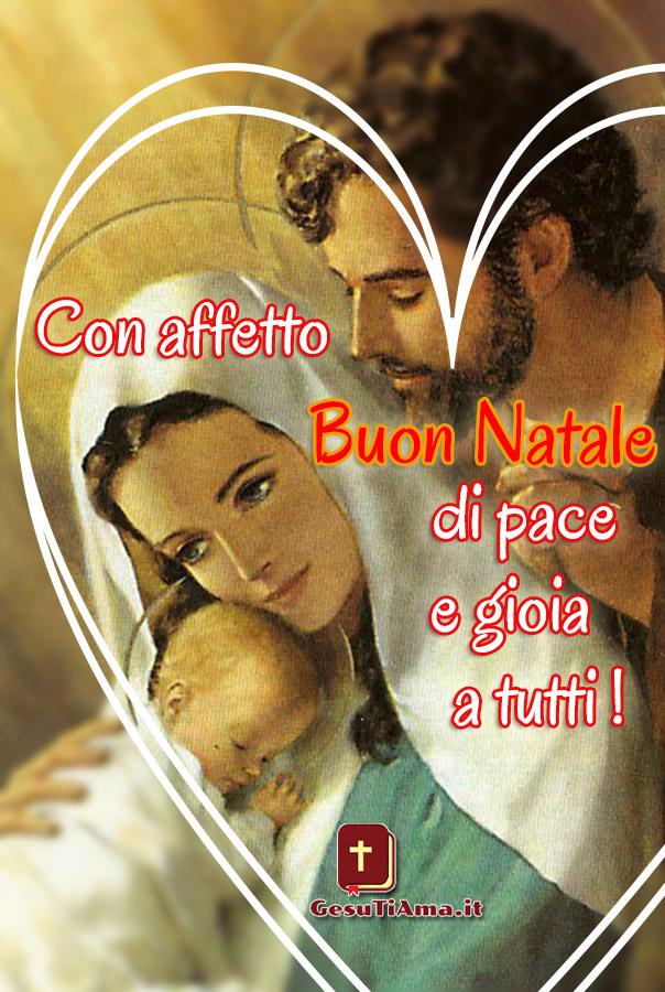 Con affetto Buon natale a tutti immagini sacre con Gesù