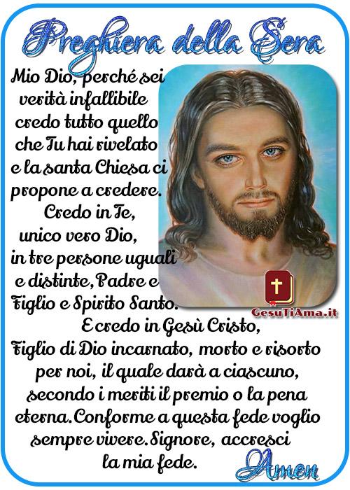 Preghiera della Sera Atto di Fede bellissime immagini religiose