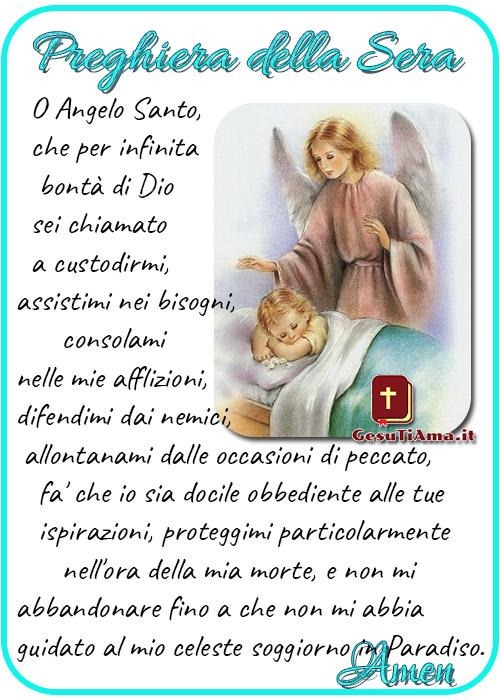 Preghiera della Sera all'Angelo Custode