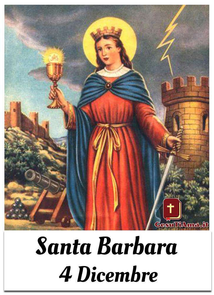 Santa Barbara 4 Dicembre immagini dei Santi di Dicembre