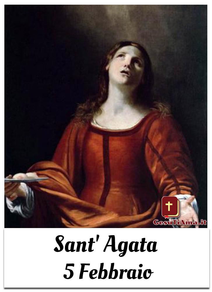 Sant' Agata 5 Febbraio immagini sacre