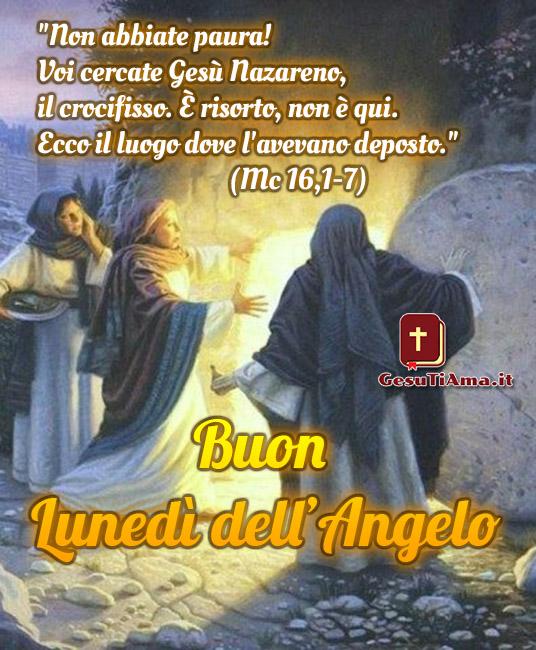 Buon Lunedì dell'Angelo immagini religiose nuove