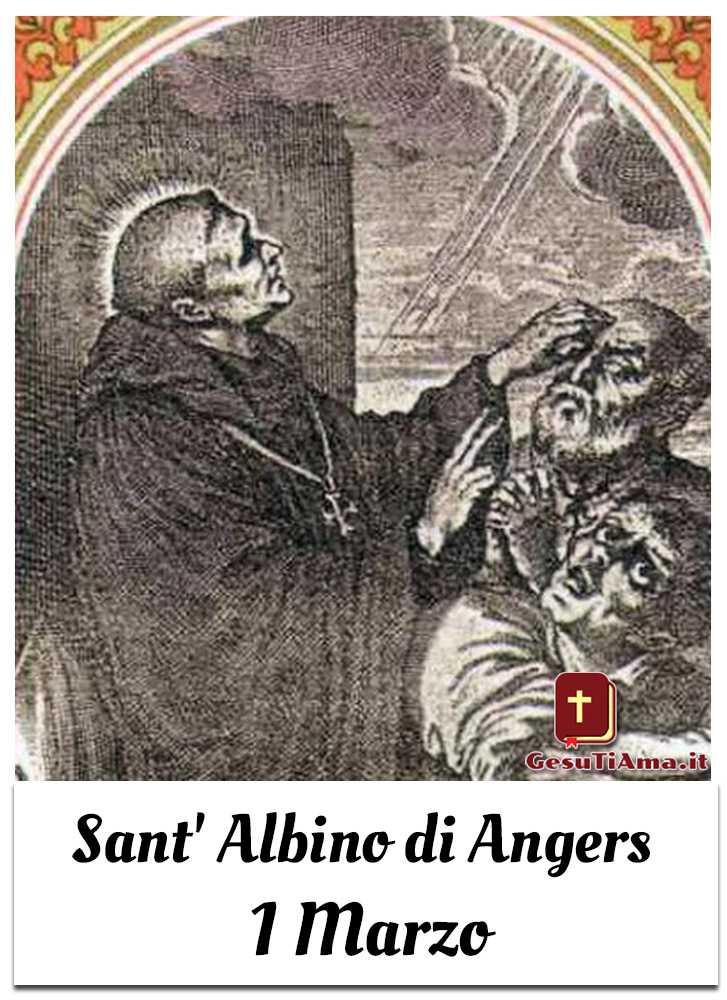 Sant' Albino di Angers 1 Marzo immagini religiose