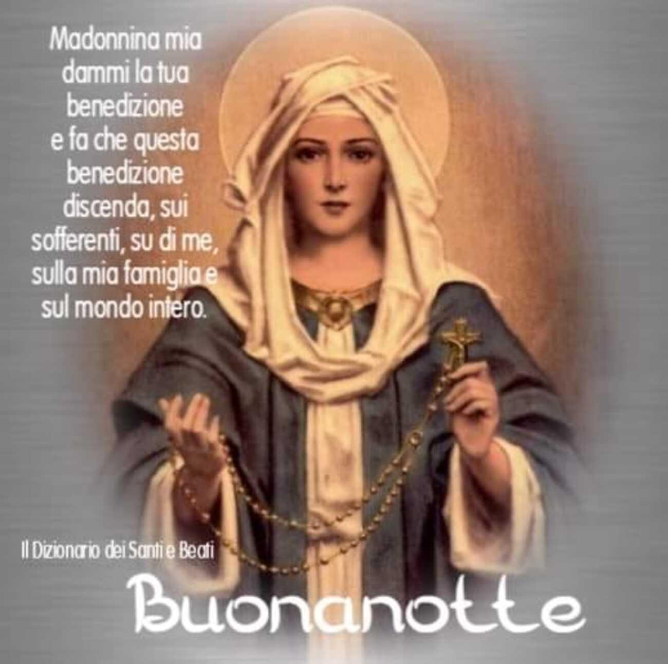 Buonanotte con la Madonna immagini nuovissime (5)