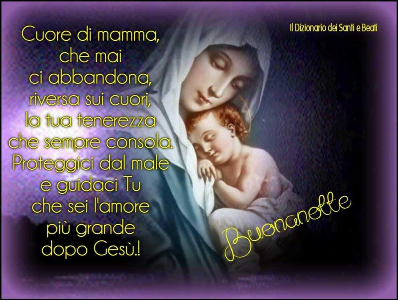 Immagini di buonanotte cristiane cattoliche per Facebook 5